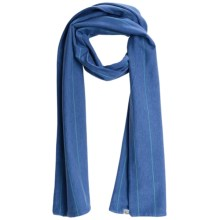 Carve Designs Paris Scarf - Organic Cotton (For Women) in Moon Blue Stripe - Closeouts