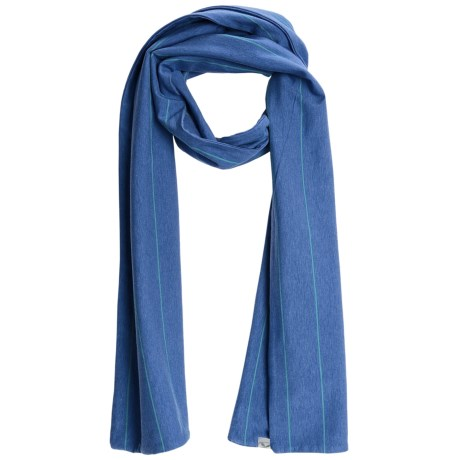 Carve Designs Paris Scarf - Organic Cotton (For Women) in Moon Blue Stripe