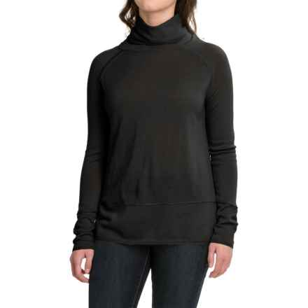 Carve Designs Pine Cowl Neck Sweater - Merino Wool (For Women) in 1 Black - Closeouts