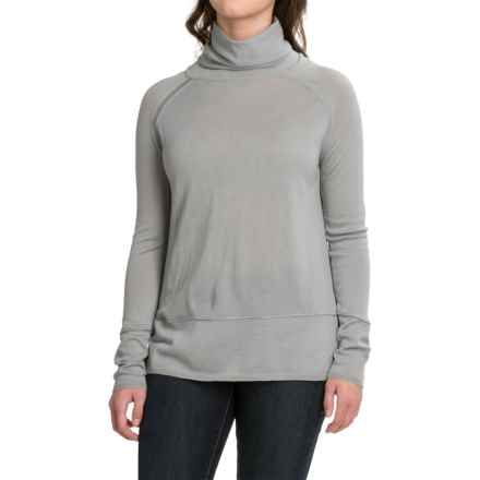 Carve Designs Pine Cowl Neck Sweater - Merino Wool (For Women) in Charcoal - Closeouts