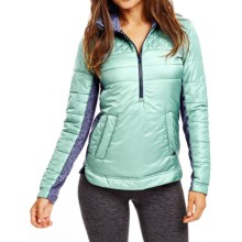Carve Designs Point Reyes Jacket - Zip Neck, Insulated (For Women) in Cactus - Closeouts