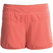 Carve Designs Rae Shorts - Low Rise (For Women) in Poppy W/Graphite - Closeouts