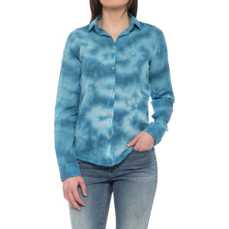 Carve Designs Riviera Voile Shirt - Long Sleeve (For Women) in Molokai