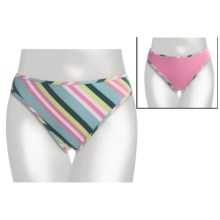 Carve Designs Rodeo Bikini Swimsuit Bottoms - UPF 50+, Reversible (For Women) in Stargazer/Stripe - Closeouts