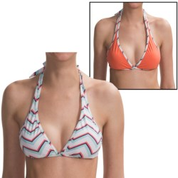 Carve Designs Rodeo Bikini  Top - UPF 50+, Reversible (For Women) in Coast Chevron/Coral