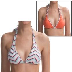 Carve Designs Rodeo Bikini  Top - UPF 50+, Reversible (For Women) in Blurple/Blurple Plaid