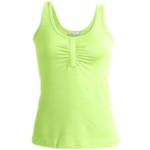 Carve Designs Roller Gather Tank Top - Stretch Modal (For Women) in Lily - Closeouts
