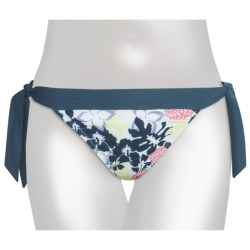 Carve Designs Ryder Bikini Bottoms - UPF 50+, Side Tie (For Women) in Reef W/Indian Teal