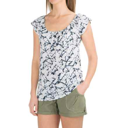 Carve Designs Sanibel T-Shirt - Organic Cotton-TENCEL®, Short Sleeve (For Women) in Bahama - Closeouts