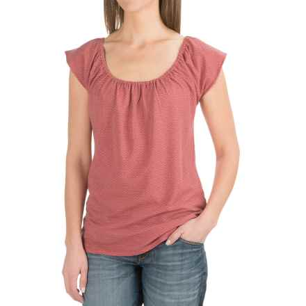 Carve Designs Sanibel T-Shirt - Organic Cotton-TENCEL®, Short Sleeve (For Women) in Sunset Chevron - Closeouts