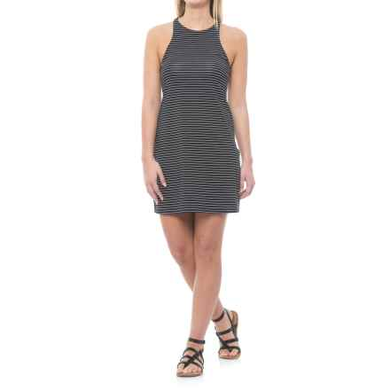 Carve Designs Sanitas High-Neck Dress - Built-In Shelf Bra, Sleeveless (For Women) in Black Aruba Stripe - Closeouts