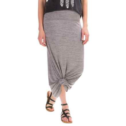 Carve Designs Seabrook Maxi Skirt (For Women) in Grey Space Dye - Closeouts