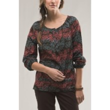 Carve Designs Shelby Shirt - Cotton Poplin (For Women) in Java/Winterberry - Closeouts