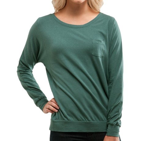 Carve Designs Skyler Boat Neck Shirt - Long Sleeve (For Women) in Sea Pine