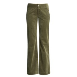 Carve Designs Sun Valley Sailor Pants - Cotton Corduroy, Straight Leg (For Women) in Burnt Olive