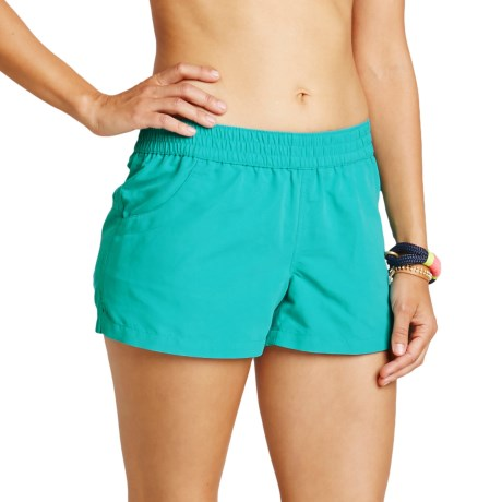 Carve Designs Surfside Shorts - UPF 50+ (For Women) in Jade
