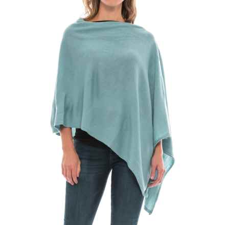 Carve Designs Torrey Poncho Sweater - Merino Wool (For Women) in Bluebird - Closeouts