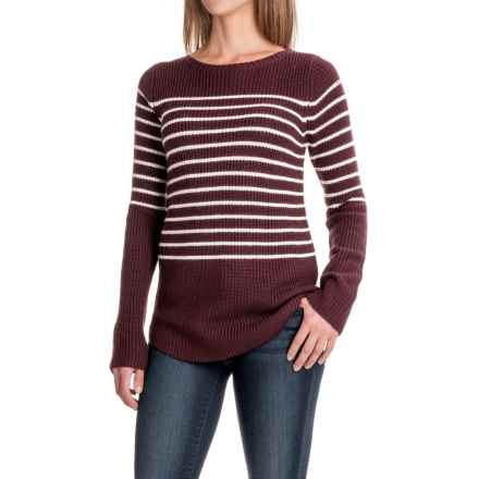 Carve Designs Truckee Sweater (For Women) in 601 Mulberry W/Mountain Stripe - Closeouts