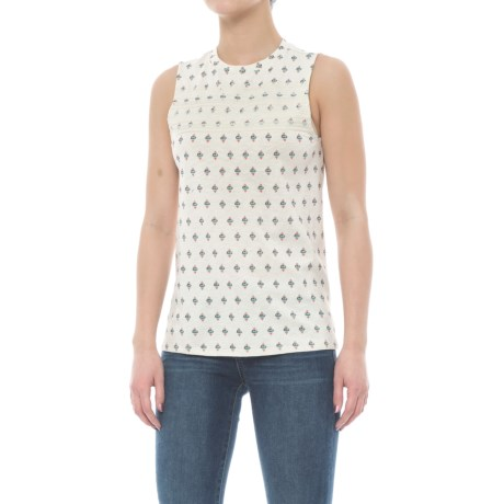 Carve Designs Yukon Tank Top - Organic Cotton-Micromodal® (For Women) in Ivory Montego