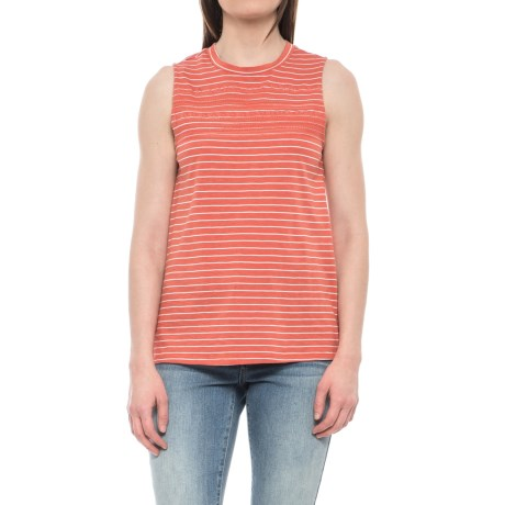 Carve Designs Yukon Tank Top - Organic Cotton-Micromodal® (For Women) in Sunkiss Aruba Stripe