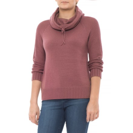 3574717e0ac57 Carve Designs Zoey Funnel Neck Sweater - Merino Wool (For Women) in Clay -