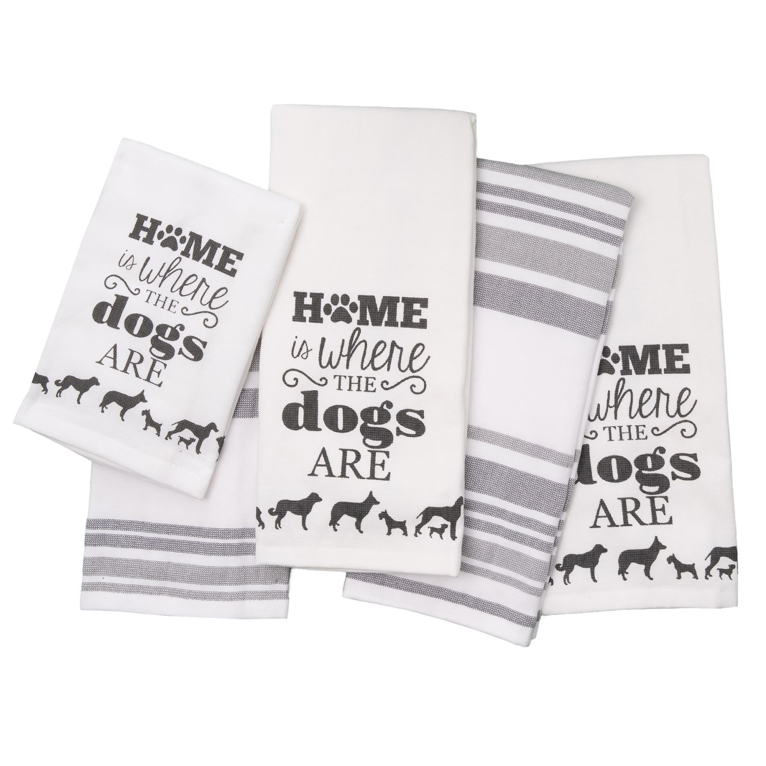 Casaba Home Sweet Home Kitchen Towels and Bar Mops - Set of 5