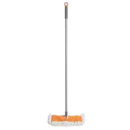 Casabella Clean Flip Floor Duster in Graphite/Orange - Overstock