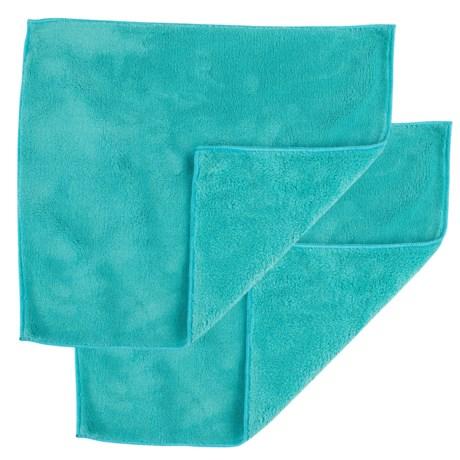 Casabella Clean Microfiber Dusting Cloths - 2 Pack in Blue