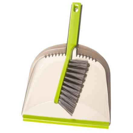 Casabella Clean Wayclean Dustpan and Brush Set in Lime/Grey - Closeouts
