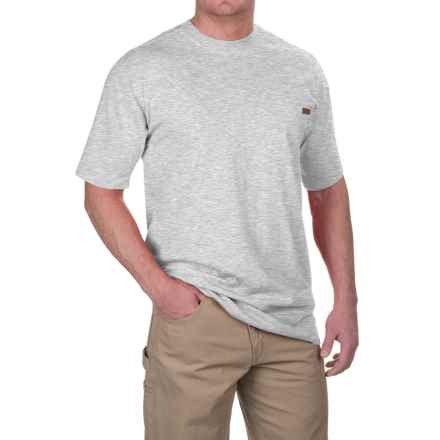 Case IH Pocket T-Shirt - Short Sleeve (For Big and Tall Men) in Heather Gray - Closeouts