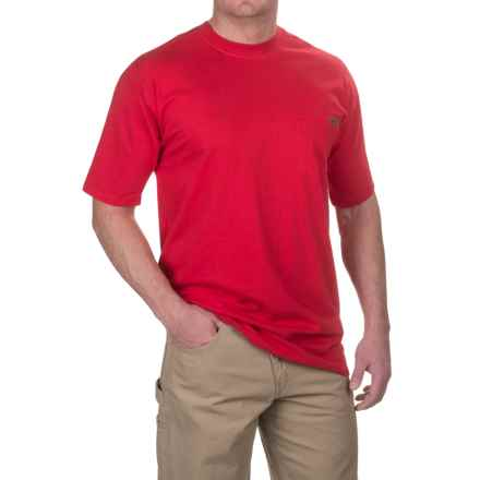 Case IH Pocket T-Shirt - Short Sleeve (For Big and Tall Men) in Red - Closeouts