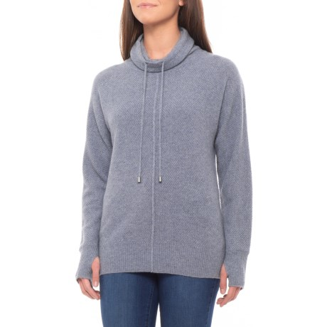 Image of Cashmere Allover Texture Shirt - Long Sleeve (For Women)