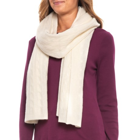 Image of Cashmere Cable Scarf (For Women)