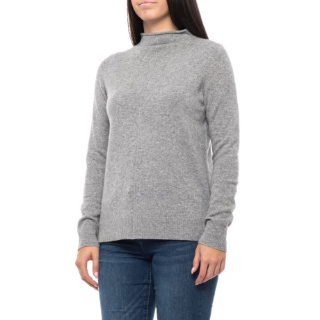 Image of Cashmere Funnel Neck Sweater (For Women)