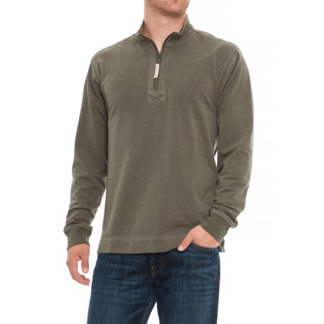 Image of Cashmere Heather Fleece Shirt - Zip Neck, Long Sleeve (For Men)