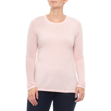 Image of Cashmere Sweater - Crew Neck, Pleat Back (For Women)