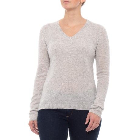 Image of Cashmere Sweater - V-Neck, Long Sleeve (For Women)