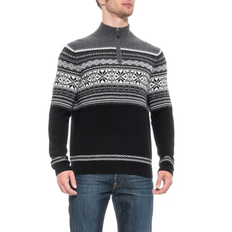 Image of Cashmere Sweater - Zip Neck, Long Sleeve (For Men)