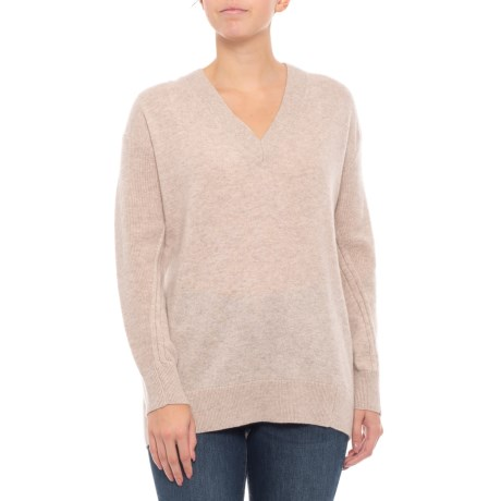 Image of Cashmere V-Neck Pullover Sweater (For Women)