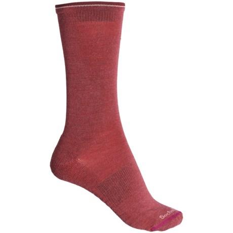 Cashmerino(R) Skinny Minnie Socks - Merino Wool, Crew (For Women) - MULBERRY (S/M ) -  Sockwell