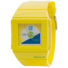 Casio Baby-G Digital-Analogue Watch - Plastic Strap (For Women) in Dark Blue/Silver/Yellow - Closeouts