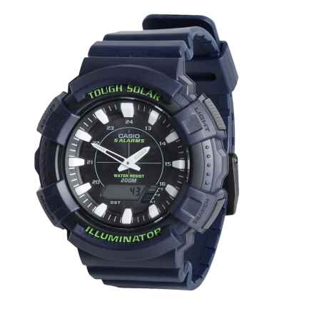 Casio Solar Digital Sports Watch (For Men) in Blue/Green - Closeouts