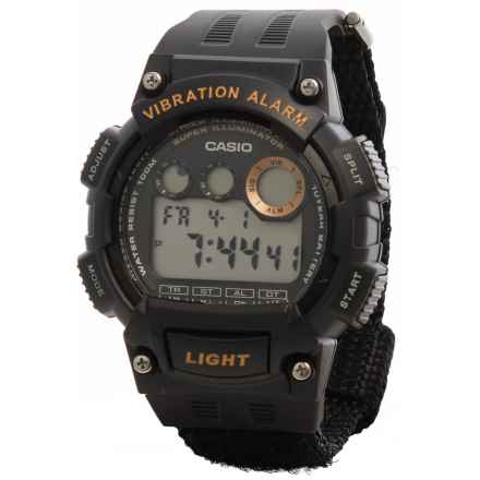 Casio Vibration Alarm Digital Watch (For Men) in Black - Closeouts