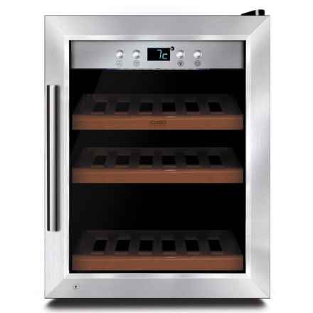 CASO 12-Bottle Refrigerated Wine Safe in Stainless Steel - Closeouts