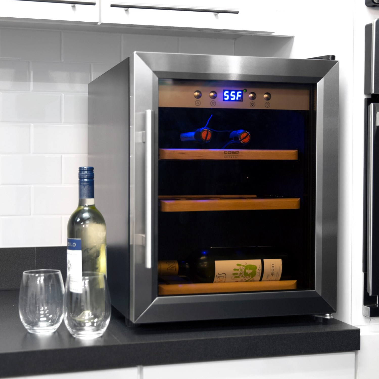 Caso 12 Bottle Refrigerated Wine Safe Save 50