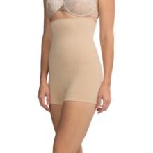 CASS Shapewear Hi Waist Contour Bottoms - Boy Shorts (For Women) in Nude - Closeouts