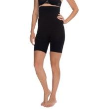 CASS Shapewear Invisibellas Hi-Waist Shaper Thigh Shorts (For Women) in Black - Closeouts