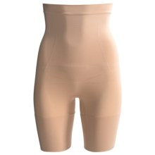 CASS Shapewear Invisibellas Hi-Waist Shaper Thigh Shorts (For Women) in Nude - Closeouts