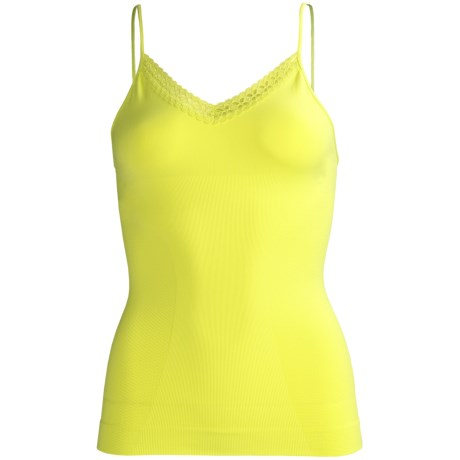 CASS Shapewear Lace Camisole - V-Neck (For Women) in Sunny Lime