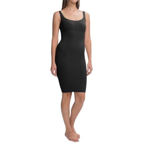CASS Shapewear Skinny Scoop Dress - Sleeveless (For Women) in Black